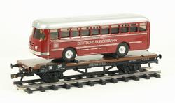 Flat Car DR with Bus - 2