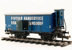 "Beer Car ČSD ""Hanušovice"" with Brakeman's Cabin - 4"